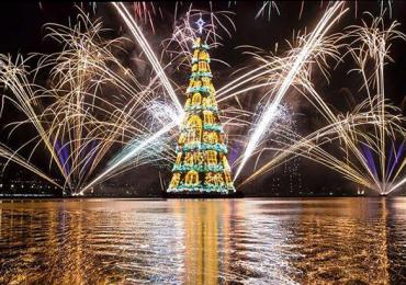 árbol flotante de Navidad