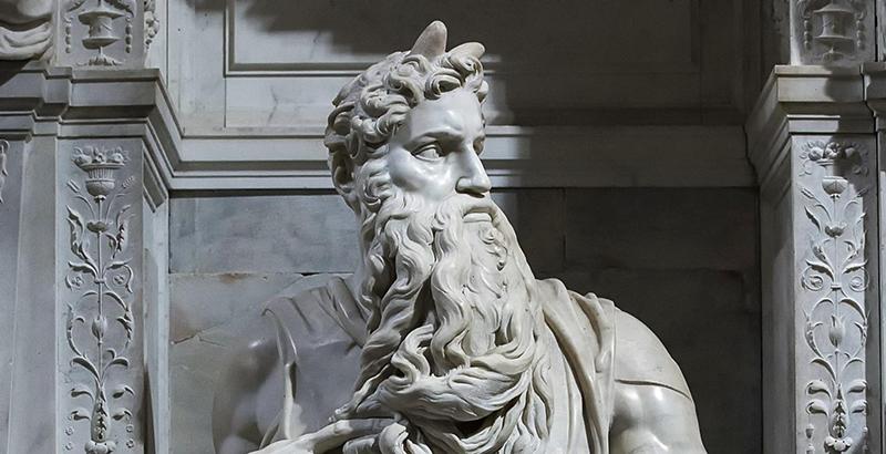 """¿Por qué tiene dos cuernos el """"Moisés"""" de Miguel Ángel?"""