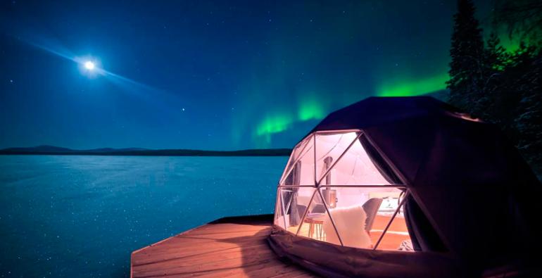 auroras boreales hoteles Europa