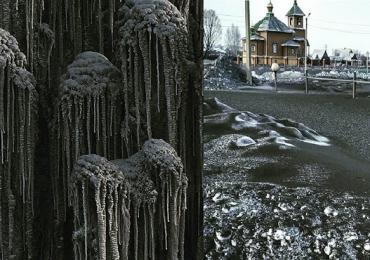 nieve negra Rusia