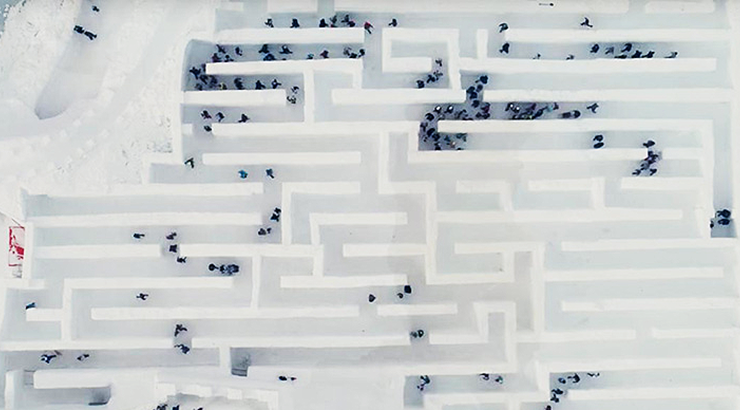 Laberinto de Nieve Canadá