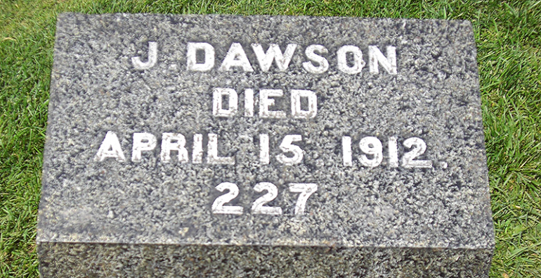 Joseph Dawson Titanic