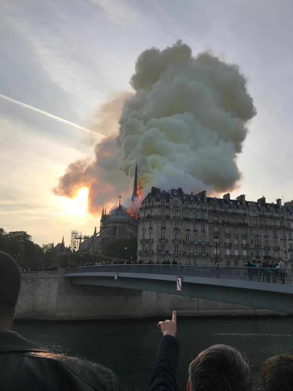 Incendio en la Catedral de Notre Dame. Foto: Getty