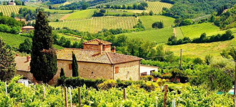 Toscana vino Italia