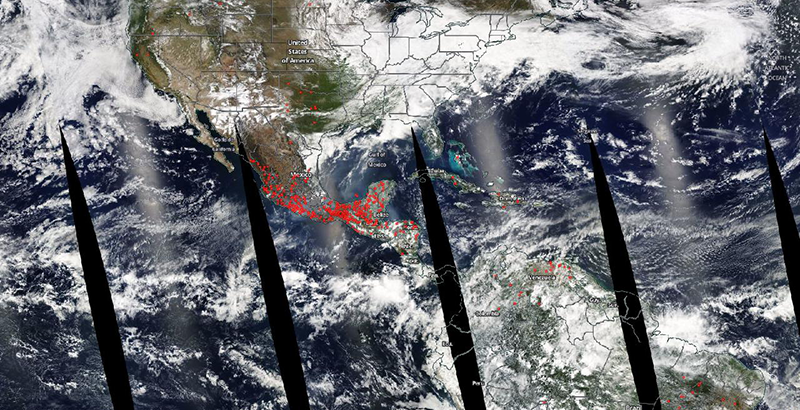 Nasa Mapa De Incendios.La Nasa Revela Una Imagen Desde El Espacio De Los Incendios