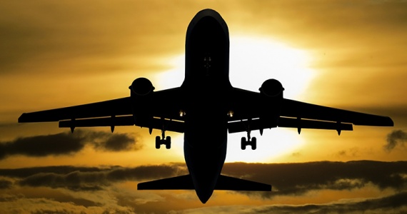 Avión aterrizaje sin ruedas