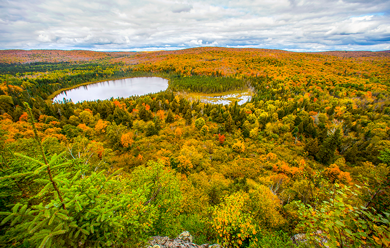 lago otoño