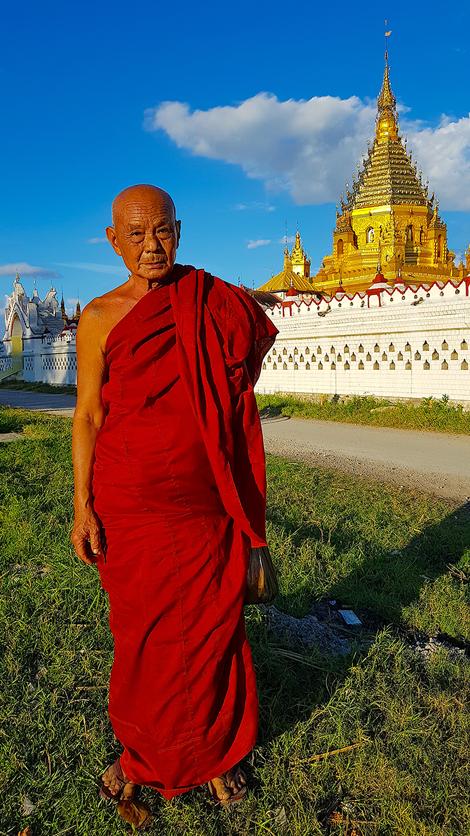 pagoda monje Myanmar