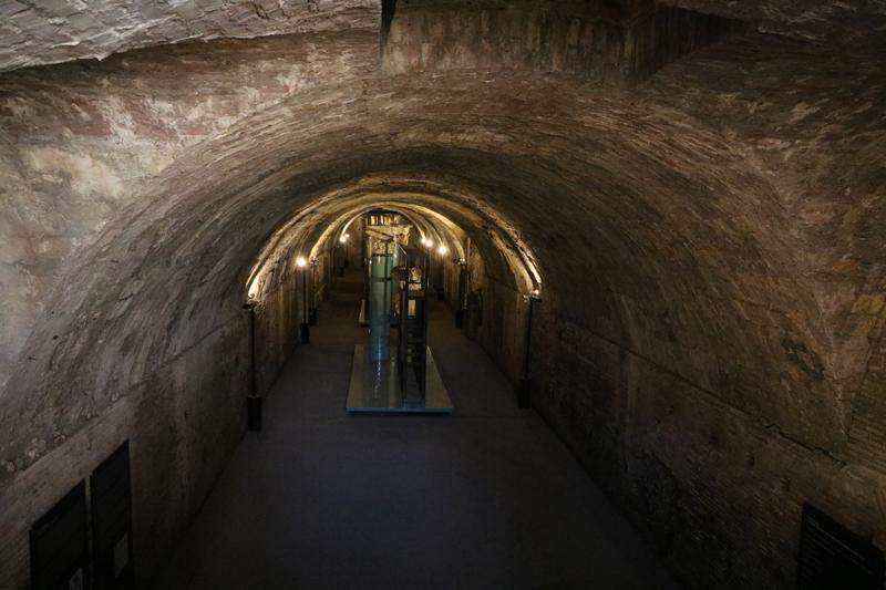 área subterránea de las Termas de Caracalla