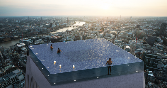 Piscina infinita Londres