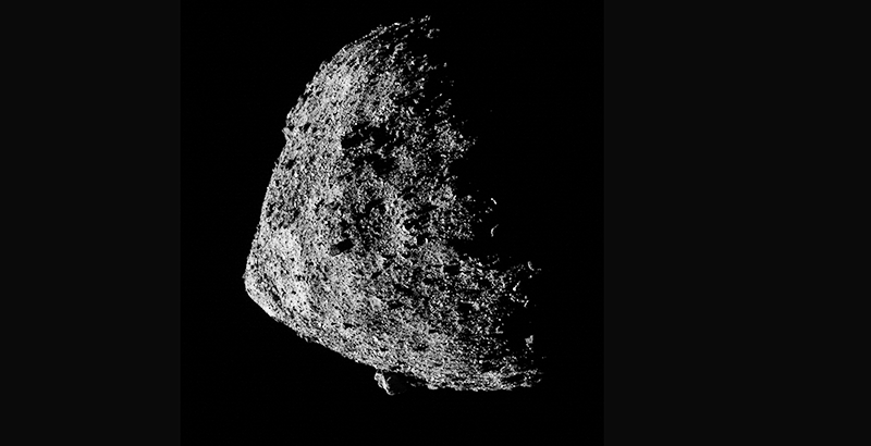 superficie del asteroide Bennu