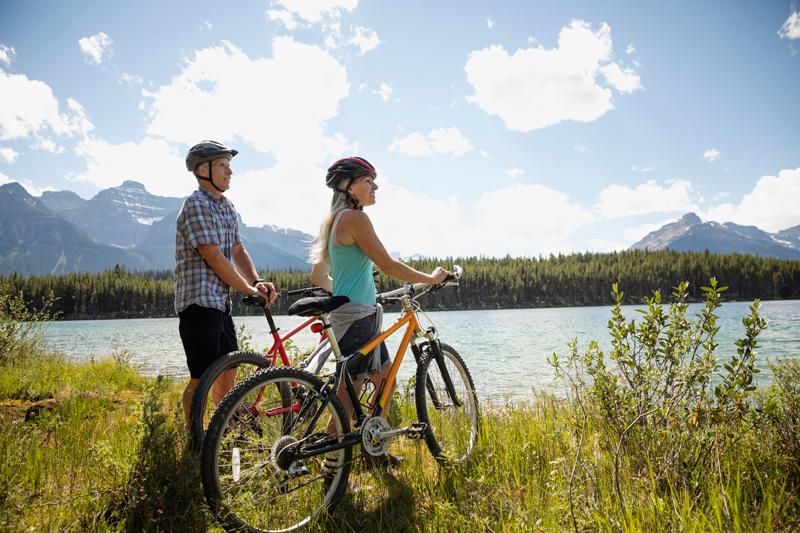 bicicleta Alberta Canadá