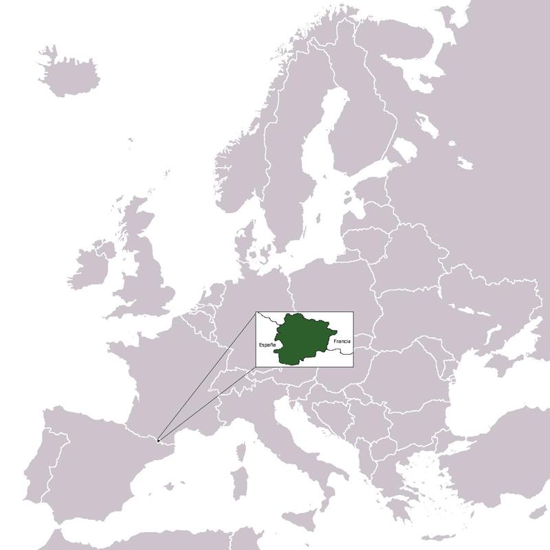 Andorra Mapa Europa