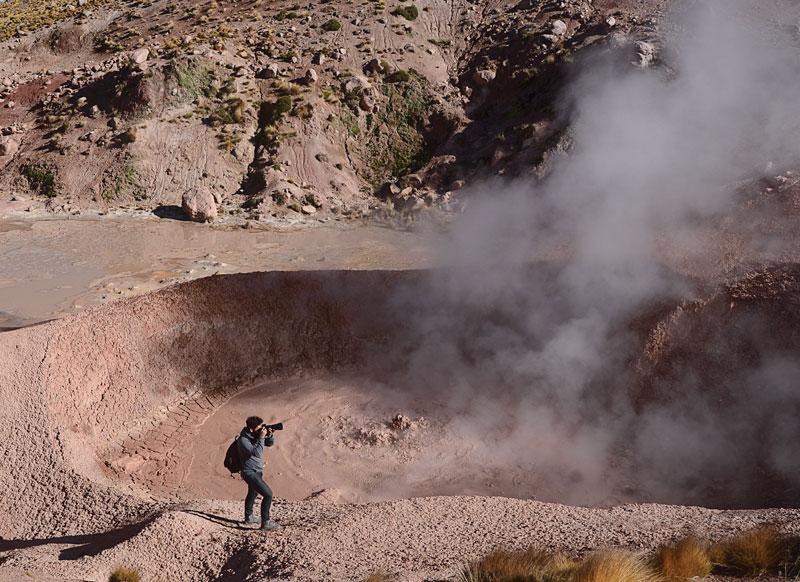 cordillera de los Andes El Tatio géiseres