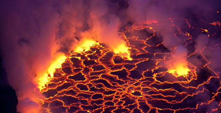 lago de lava