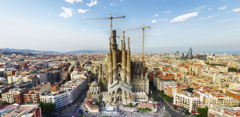 Sagrada Familia Barcelona Recorrer Europa