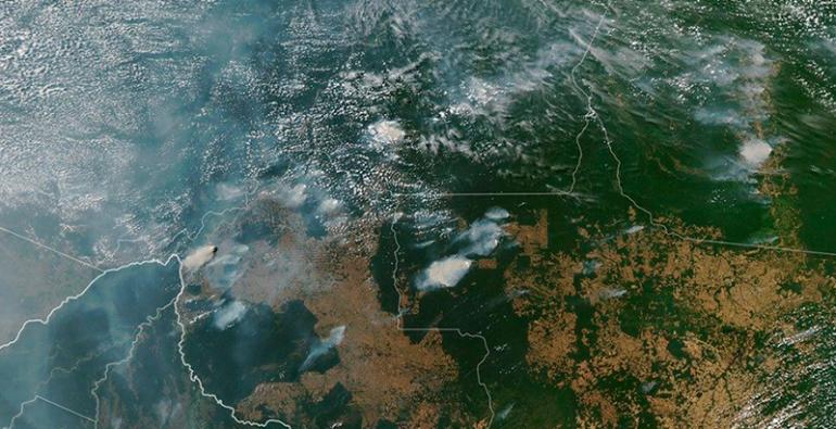 Incendios forestales Amazonía de Brasil