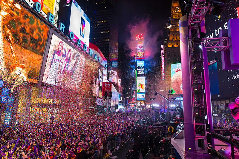 temporada Navideña Año Nuevo Nueva York