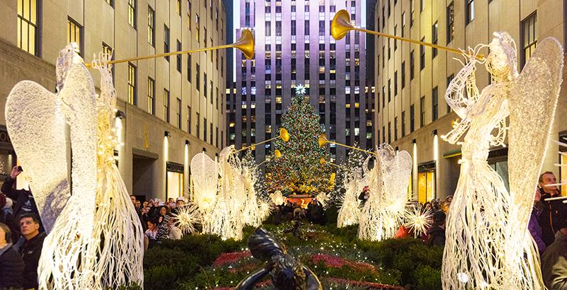 temporada navideña Rockefeller Center árbol de Navidad Nueva York