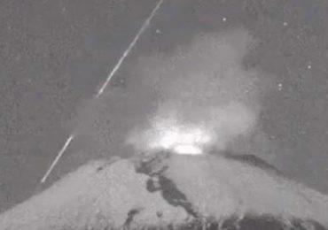 meteoro caída Popocatépetl