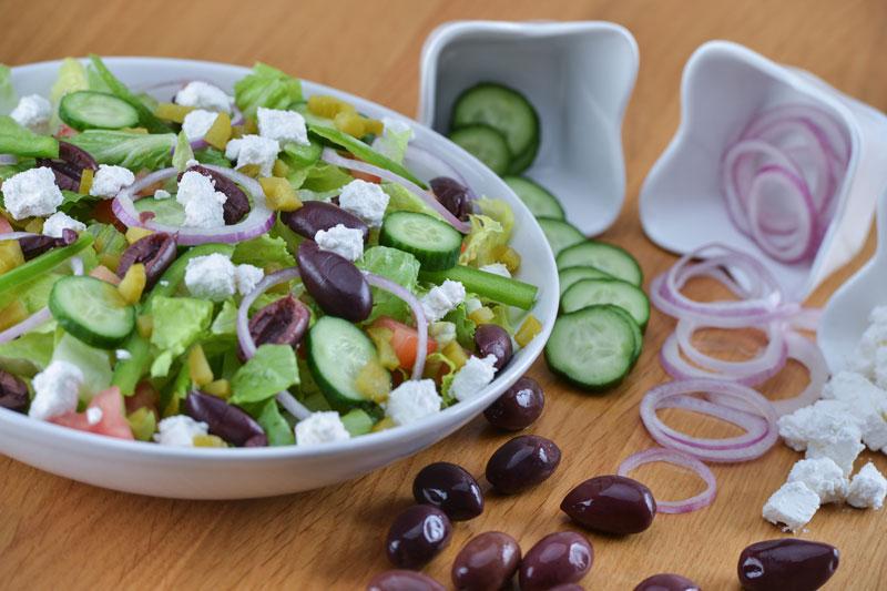 gastronomía griega ensalada