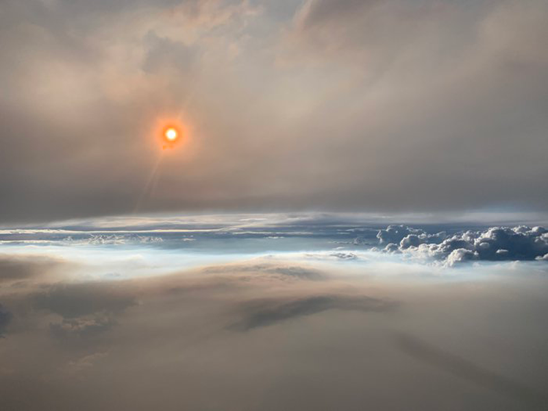Sol Nube de fuego