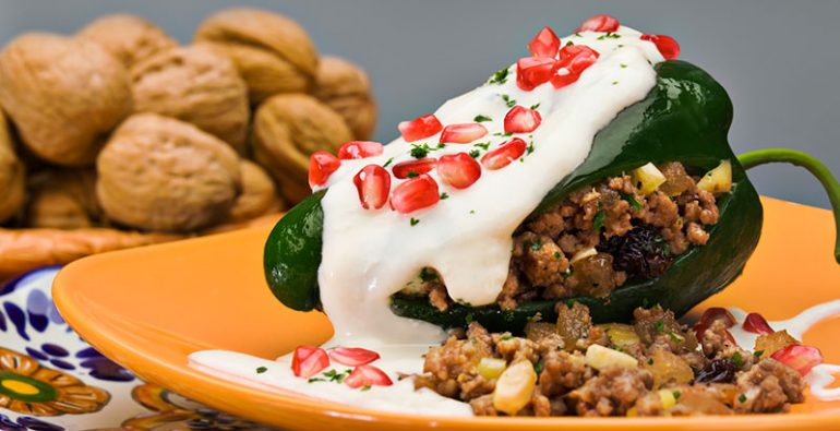 Chile en Nogada ingredientes tradiciones mexicanos
