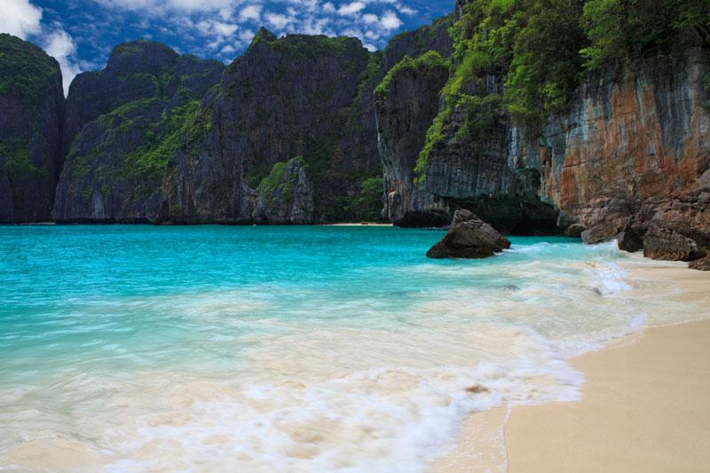 Maya Bay Tailandia Exceso de Turistas