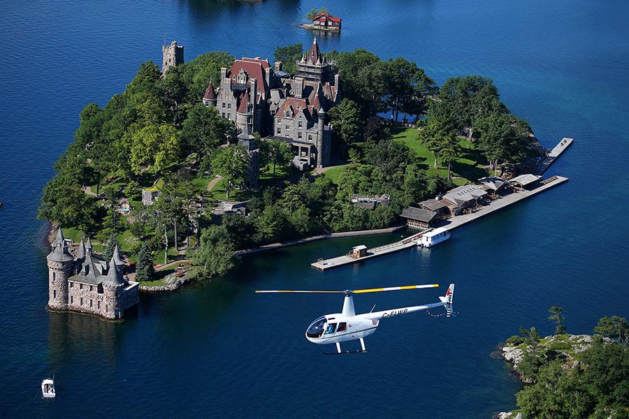 1000 Islas helicóptero