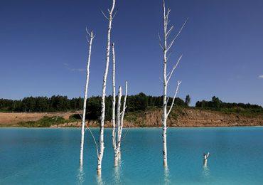 Siberia Lago azul turquesa