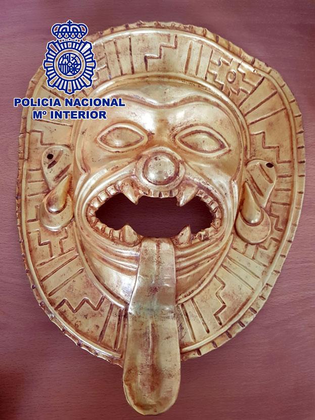 máscara de oro Colombia Madrid mercado negro