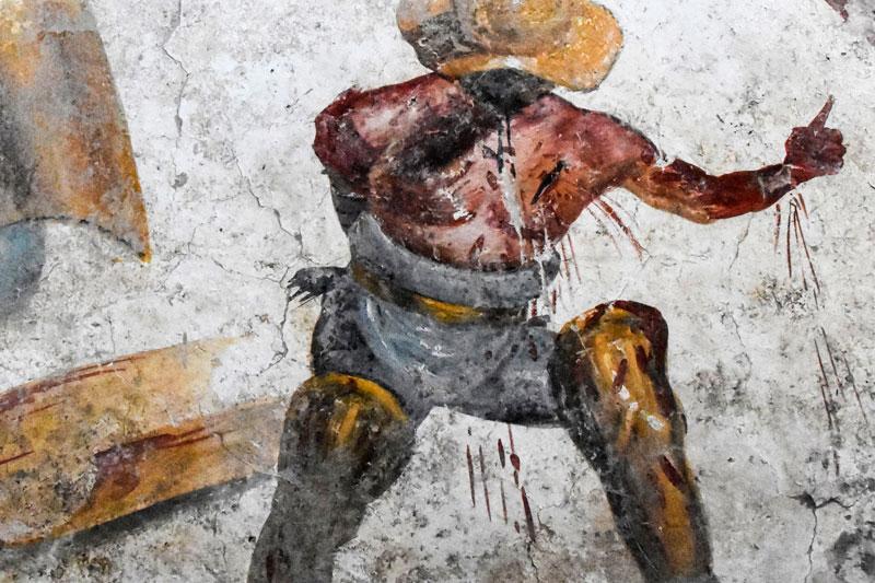 fresco gladiadores Pompeya