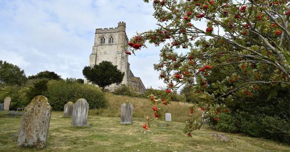 iglesia medieval en Inglaterra Terror