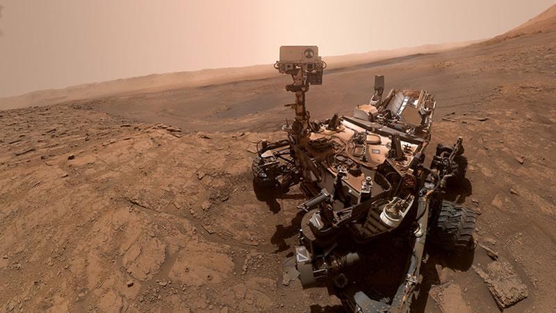 Curiosity Selfie Marte