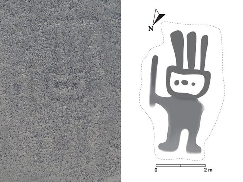 Geoglifo de un humanoide