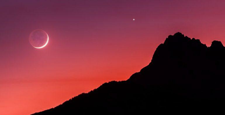 Conjunción Luna Venus Saturno