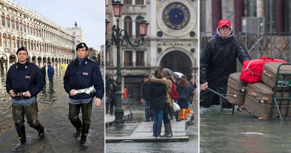 inundación en Venecia