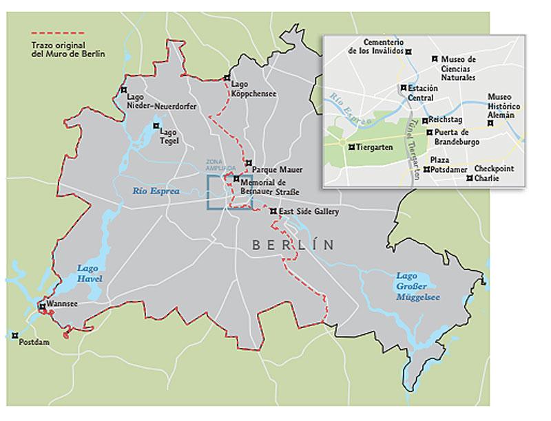 trazado Muro de Berlín