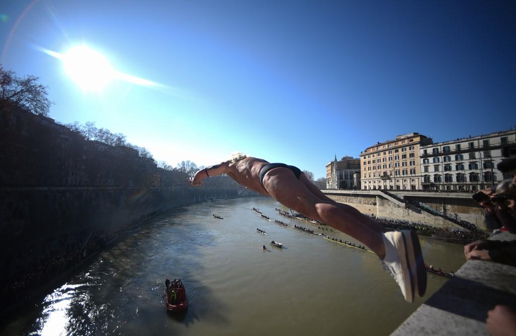 río Tíber Roma Año Nuevo