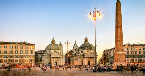 Piazza del popolo Roma Italia