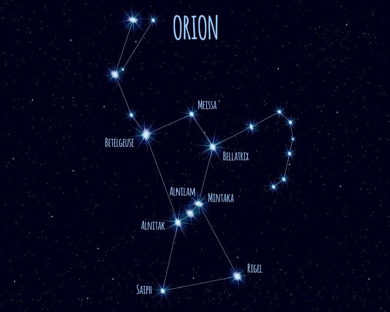 constelación de Orión Vía Láctea
