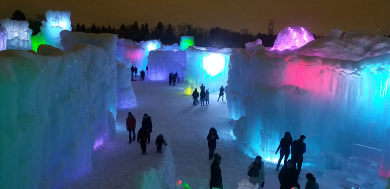 castillo de hielo Canadá Edmonton