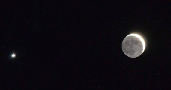 conjunción las Pléyades Venus Luna