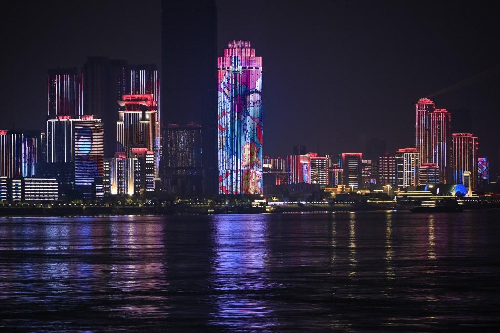 Wuhan espectáculo de luces