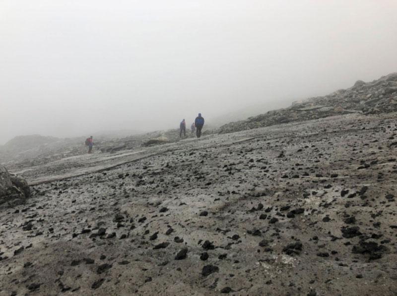 hielo de Lendbreen Noruega paso vikingos