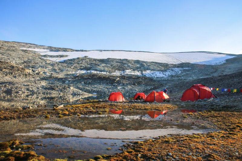 arqueólogos parche de hielo de Lendbreen