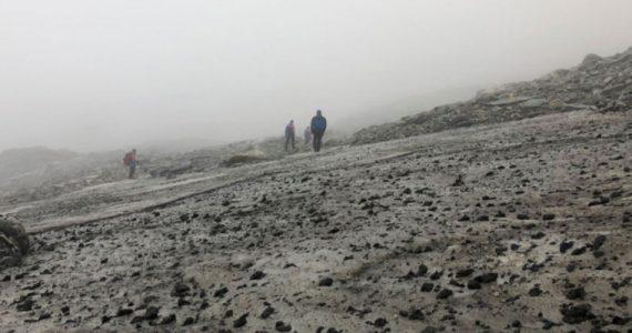 """hielo de Lendbreen Noruega paso de los vikingos """"Carretera"""""""