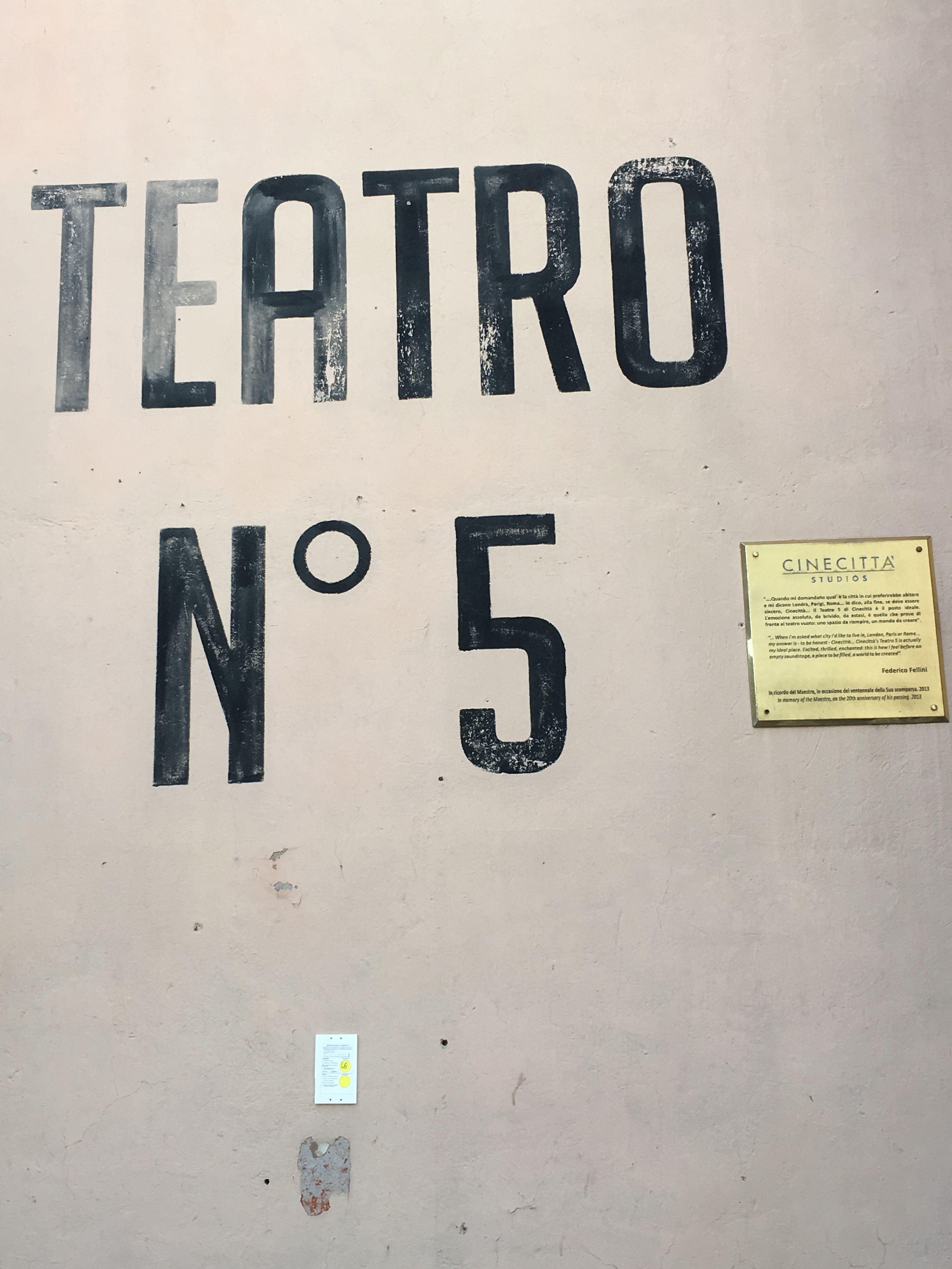 Roma Italia Cinecittà Teatro 5 Fellini