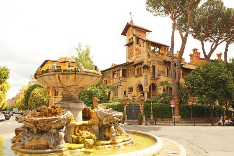 barrio Coppedè Roma Italia