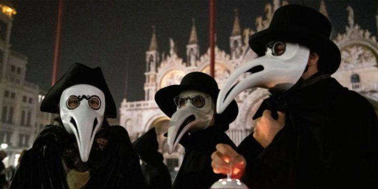Venecia máscaras puntiagudas coronavirus peste